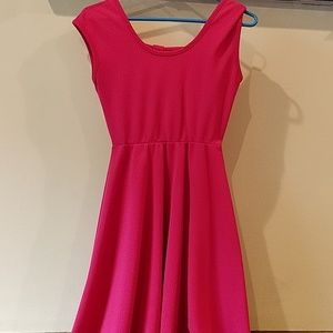 Francesca's Pink Dress With Bow Accent